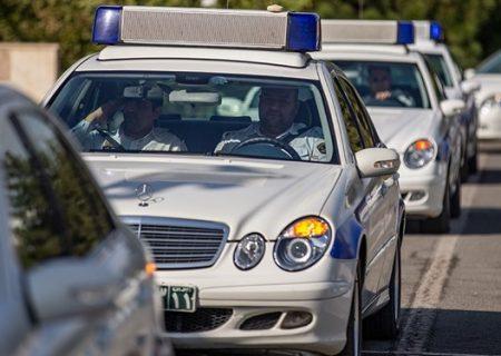 پلیس راهور منطقه ۲۱ تهران رتبه اول کاهش تصادفات را کسب کرد