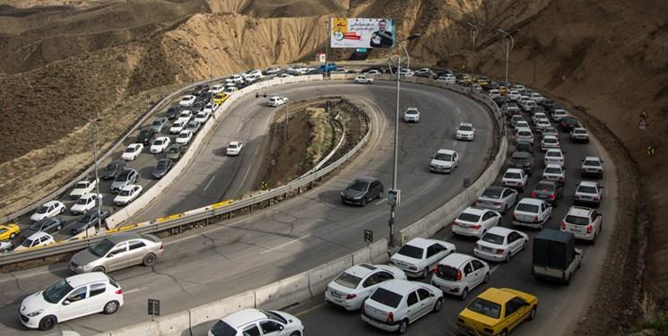 ترافیک سنگین در آزادراه تهران-شمال و هراز