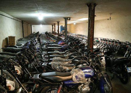 کشف موتورسیکلتهای احتکار شده