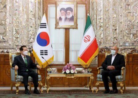 نخست وزیر کره جنوبی با قالیباف دیدار کرد