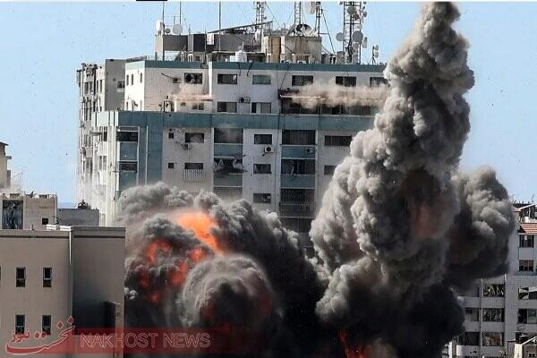 واکنش اتحادیه اروپا به حمله صهیونیست ها به دفتر رسانه های غزه