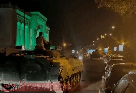 استقرار تانک های ارتش در بغداد