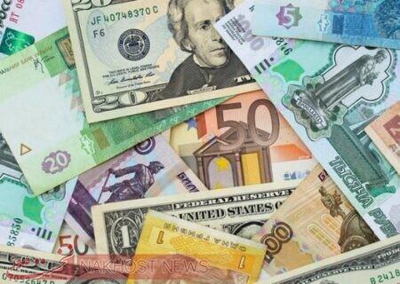 نرخ رسمی ۱۹ ارز رسمی کاهش یافت