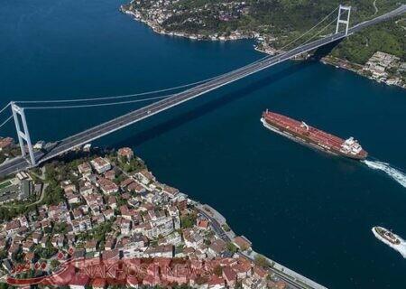 تصادف دو شناور روسیه و ترکیه در تنگه بُسفُر