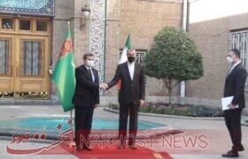 استقبال وزیر خارجه از همتای ترکمنستانیاش